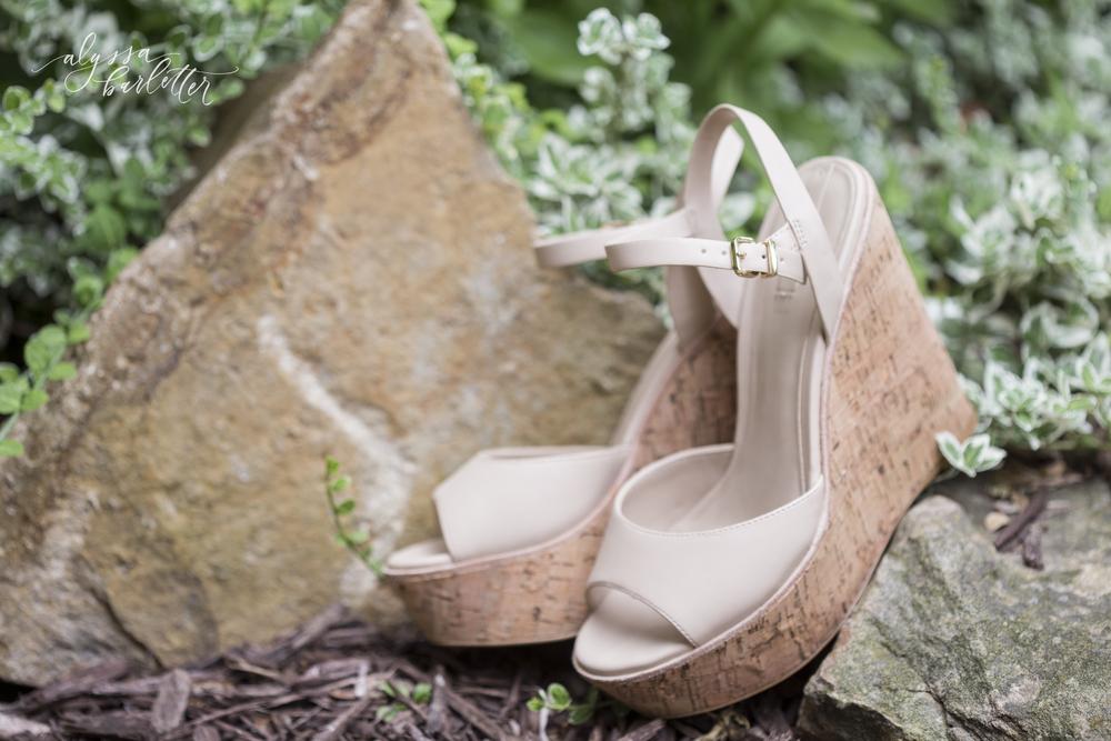 kansas city wedding budget bride shoes details wedges