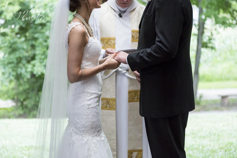 kansas city wedding budget mahaffie bride groom hands rings details