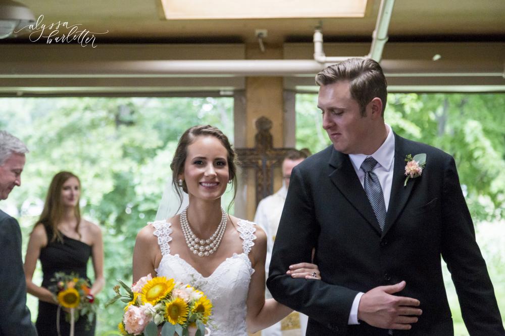 kansas city wedding budget mahaffie bride groom married exit