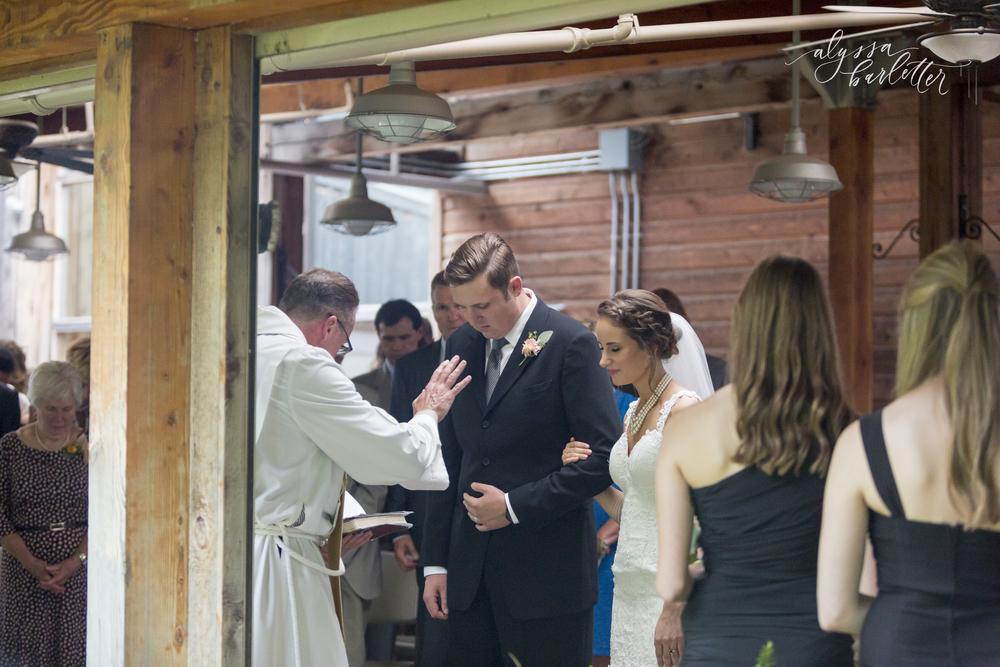 kansas city wedding budget mahaffie ceremony bride groom prayer
