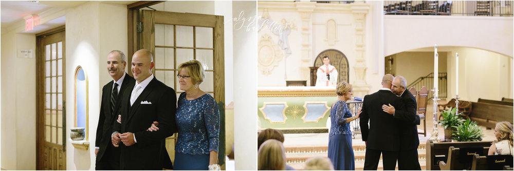 kansas city wedding photography catholic church visitation ceremony groom