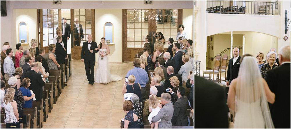 kansas city wedding photography catholic church visitation ceremony bride