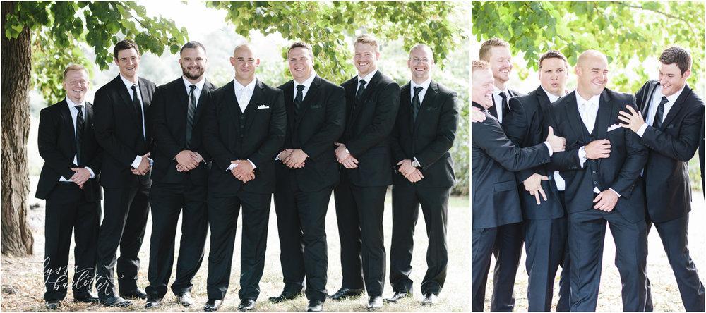 kansas city wedding photography loose park groom groomsmen
