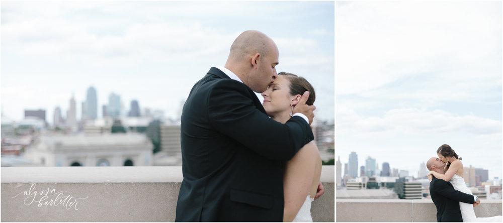 kansas city wedding photography liberty memorial bride groom skyline