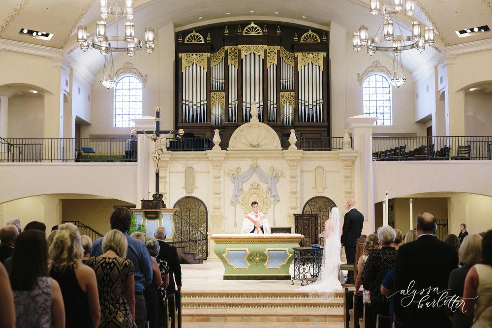 kansas city wedding photography catholic church visitation ceremony