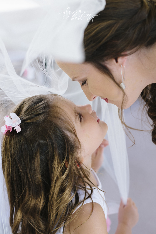 kansas city wedding photography catholic church visitation flower girl bride veil
