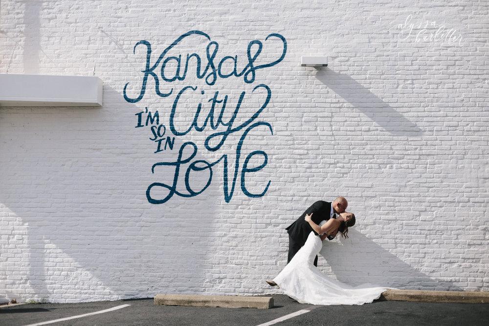 kansas city wedding photography crossroads downtown bride groom mural