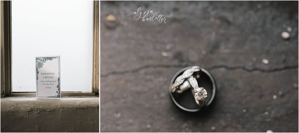kansas city wedding photographer redeemer midtown details program ring
