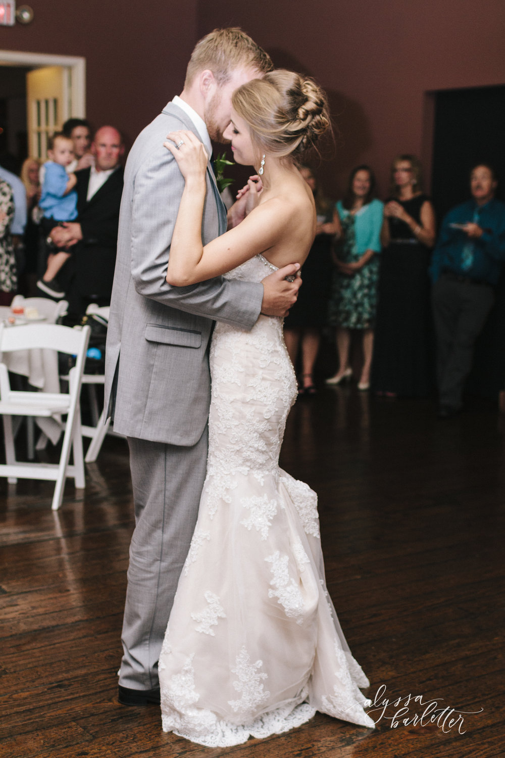 kansas city wedding photographer westport californos reception bride groom first dance