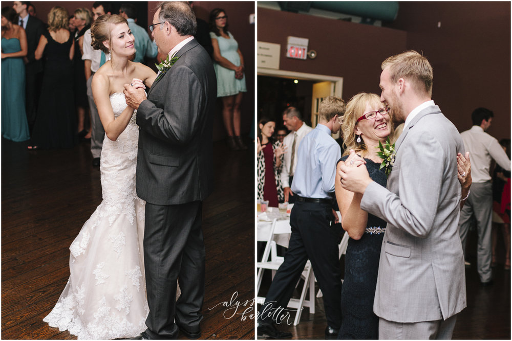 kansas city wedding photographer westport californos reception bride groom mom dad dance