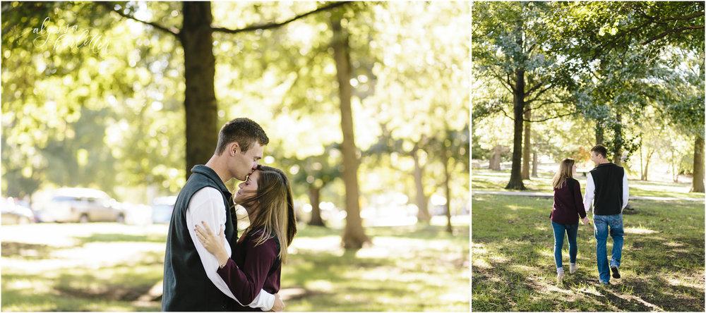 kansas city wedding photographer engagement loose park