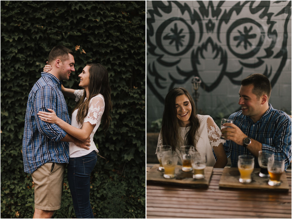 alyssa barletter photography emperial brewery engagement session downtown kansas city kc crossroads -7.jpg