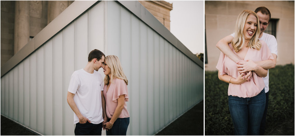 alyssa barletter photography nelson atkins art museum classic summer engagement session with dog-2.jpg