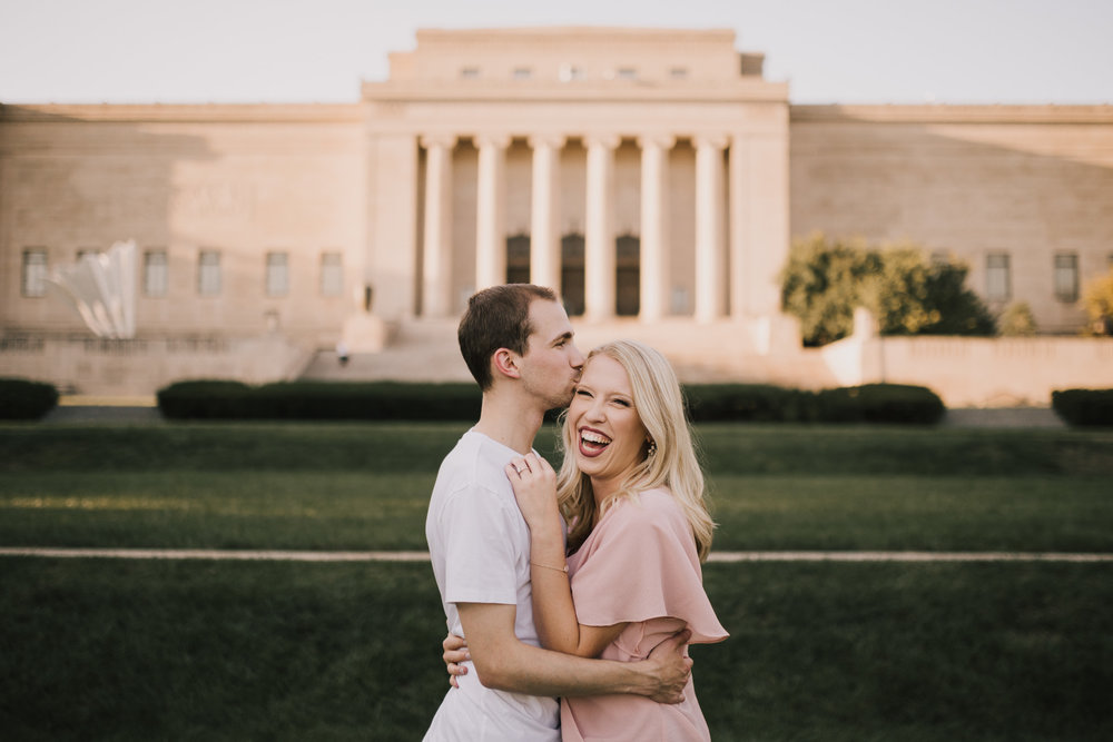 alyssa barletter photography nelson atkins art museum classic summer engagement session with dog-7.jpg