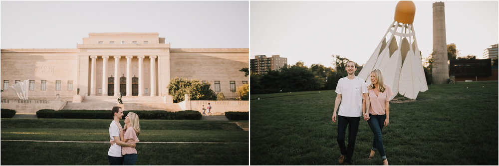 alyssa barletter photography nelson atkins art museum classic summer engagement session with dog-14.jpg