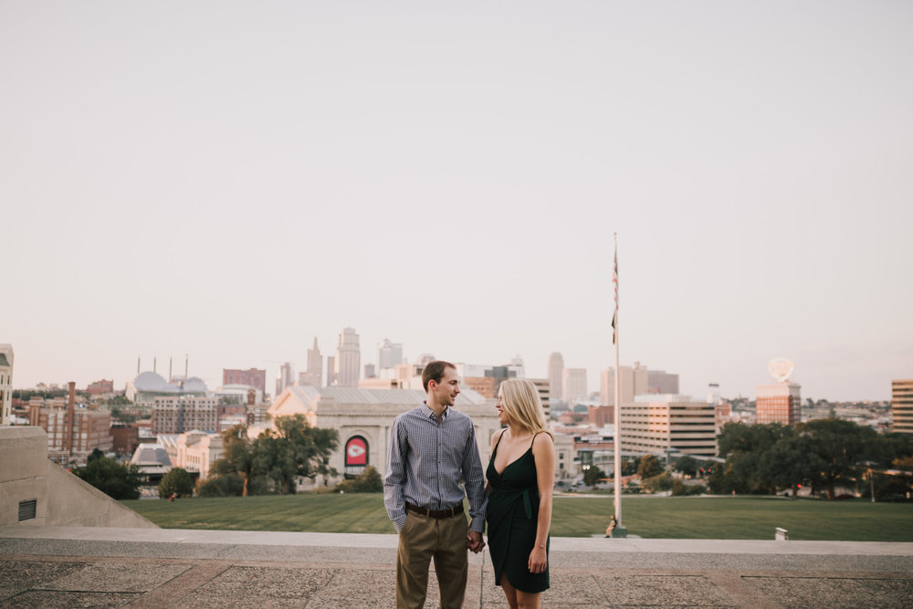 alyssa barletter photography nelson atkins art museum classic summer engagement session with dog-18.jpg