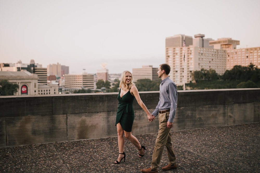 alyssa barletter photography nelson atkins art museum classic summer engagement session with dog-24.jpg