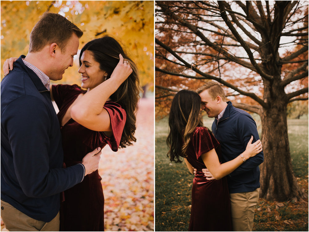 alyssa barletter photography loose park fall engagement photos autumn wedding photography-15.jpg