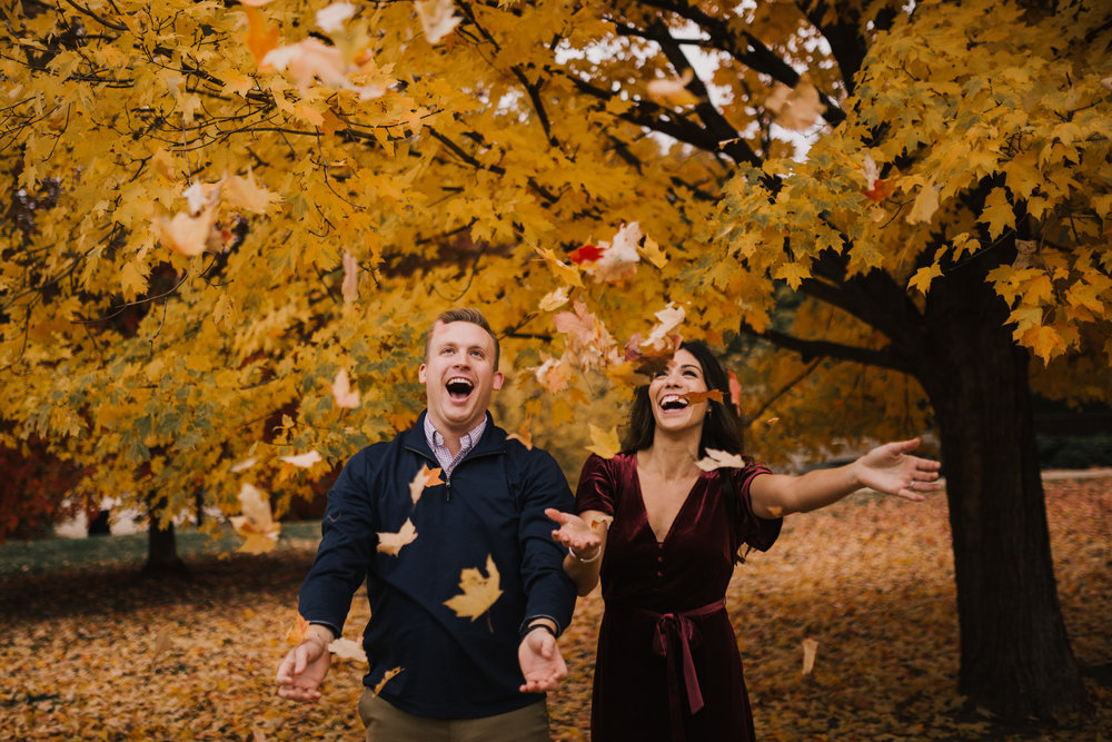 alyssa barletter photography loose park fall engagement photos autumn wedding photography-16.jpg