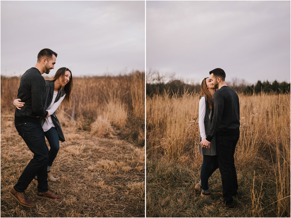 alyssa barletter photography shawnee mission park engagement session photographer fall winter photos field-18.jpg