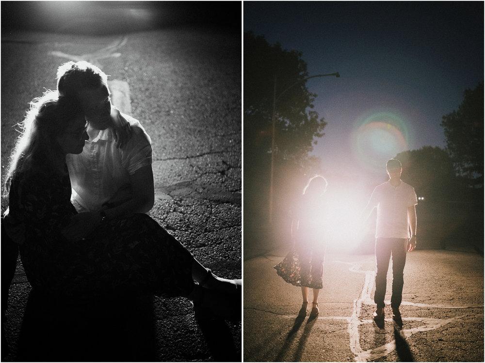 alyssa barletter photography artsy engagement photos headlight car nighttime fun-6.jpg