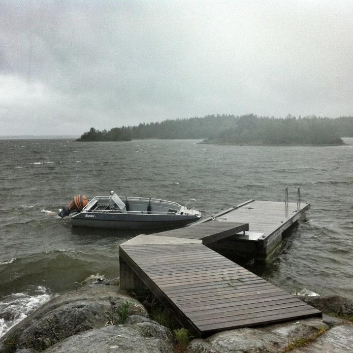 Nordvästlig vind på Skäret.