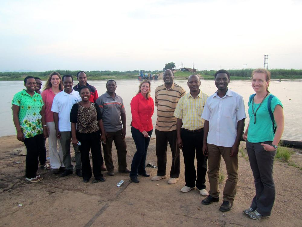 KELLEY PASCOE (FAR RIGHT) IN TANZANIA.