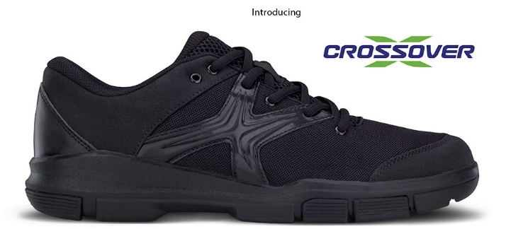 - CROSSOVER SHOEThe DSI Crossover was developed specifically for marching bands and drum corps by a world-class foot doctor who regularly works with professional athletes and top drum corps.Designed to meet the extreme demands of high performance marching movements the Crossover outperforms other well-known athletic footwear.Can be used for practice or performance by colleges, high schools, drum corps, or indoor percussion.The Crossover features the Xtreme Tendon Fit® in the midfoot which provides unmatched support and stability. It also has a one-piece rubber sole, canvas toe box, breathable mesh upper, Stabil® heel cup, and an extra athletic-style eyelet for narrow feet.