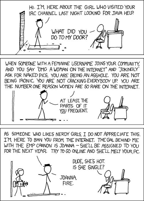 xkcd.com - the best source of geeky cartoons evar!