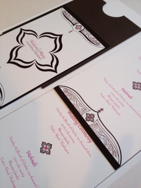 Wedding Invitation - Brown Mendhi