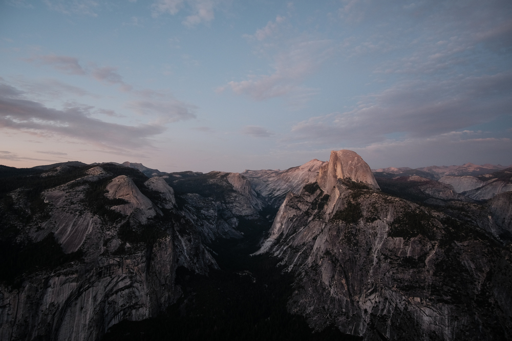 Half Dome at sunset. Yosemite National Park, California. August 2015.