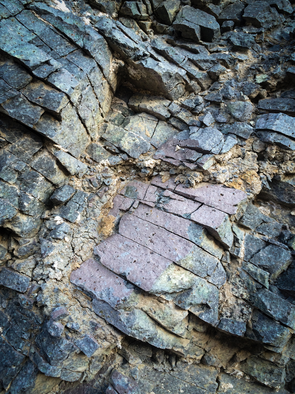 Rock layers. Death Valley National Park, California. August 2015.