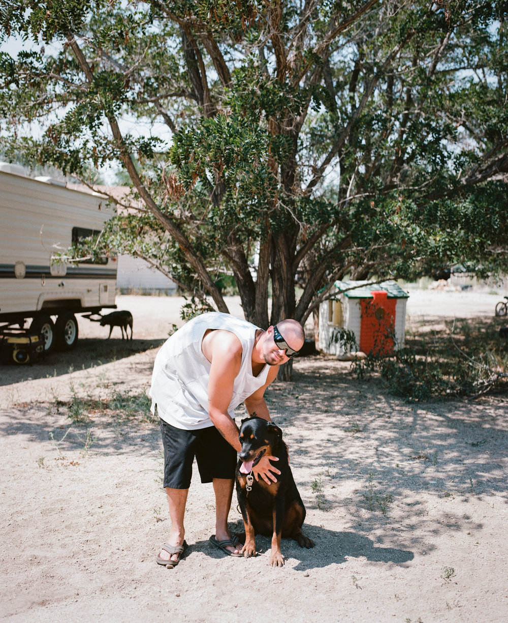 Paul and Roxie. Lone Pine, CA. August 30, 2015.