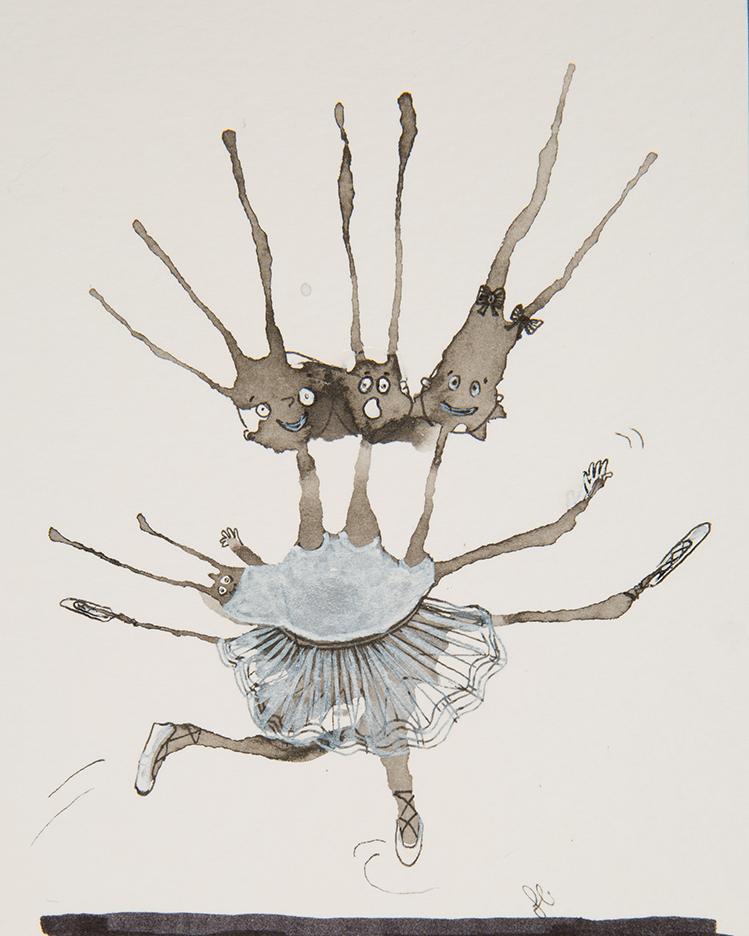 4 Headed Ballerina