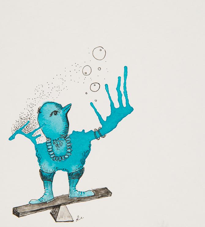 Blue Bird Creature