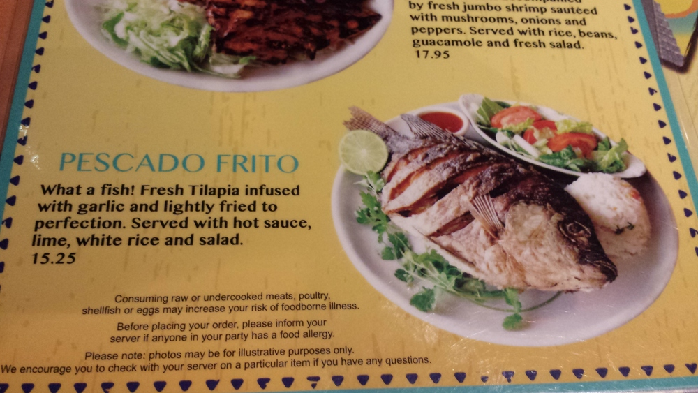 The only thing that could improve this meal would be if    the fish was served still alive   .