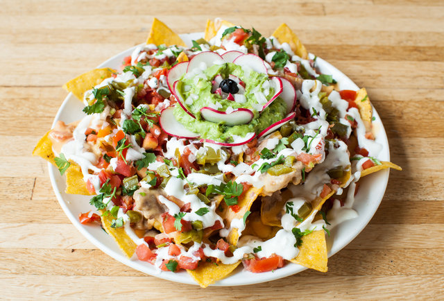 These were the nachos I should have gotten instead. Nothing gross hiding under those chips and cheese!