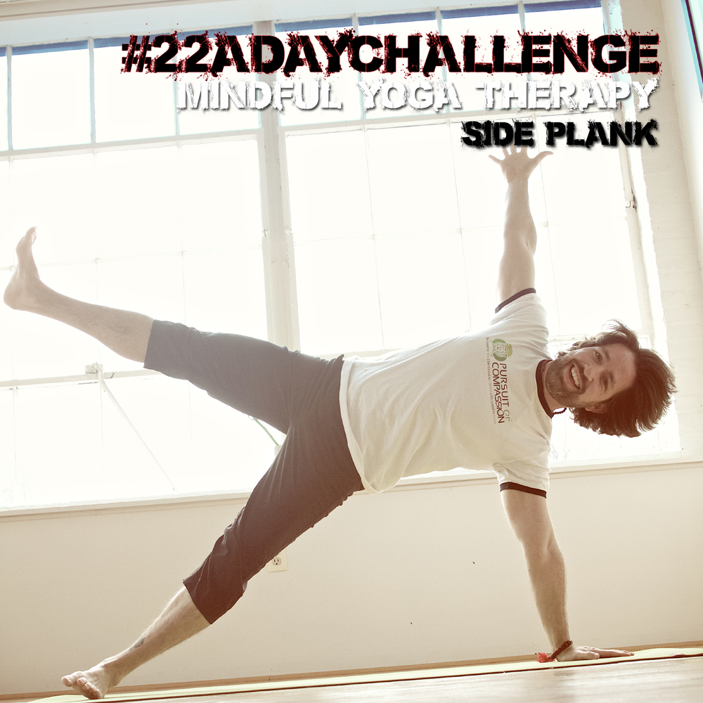 HERE IS AN EXAMPLE FROM THE LAST #22ADAYCHALLENGE Day 5 | Side Plank | I love to fly...maybe that is why I joined the Air Force! I feel so light and open when I am in this pose. If you're not too sure what PTSD really is and the challenges associated...PLEASE carve out some time to watch this. Here is a link to a talk I gave about De-Stigmatizing PTSD https://www.youtube.com/watch?v=CrYZFXTELPM&feature=youtu.be THANK you to everyone who is helping to elevate this social conversation about#VeteranSuicide. I have tried real hard to like and comment on all of your posts. HOWEVER, it is finals week for me at school, so I am not sure how much 'instagram' time I will have. _()_Namaste, Chris Be sure to tag all sponsors & hosts and use our hashtag(s) so we can see your entry! *Your profile needs to be public!  @yoga_w_ali @malaforvets @mindfulyogatherapy @saveawarrior @givebackyogafoundation @fractal.9 @worldofjackiedesigns #yoga_w_ali #malaforvets #mindfulyogatherapy #saveawarrior #givebackyogafoundation #gratitude