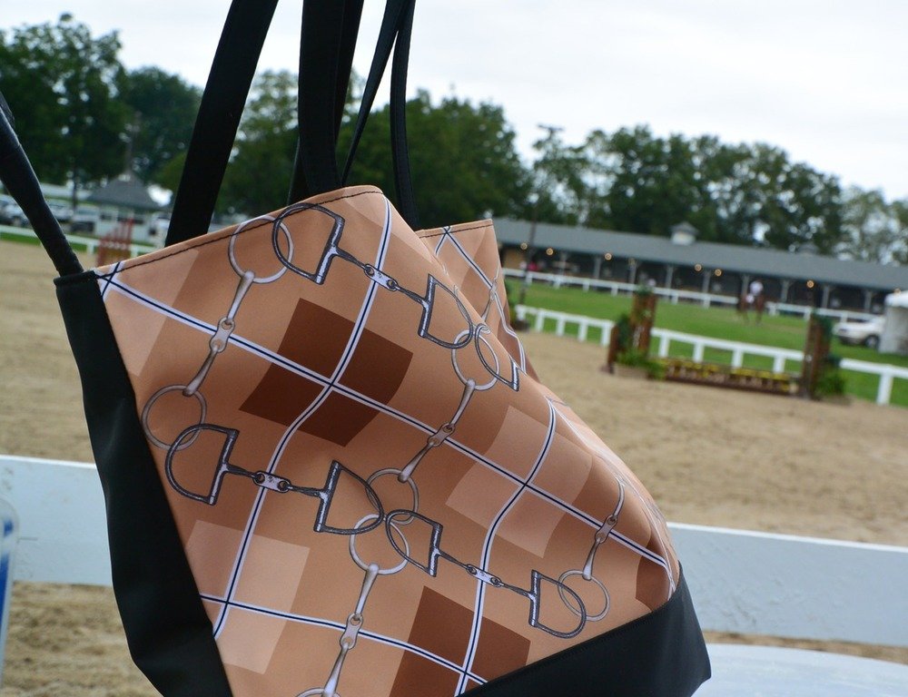 Deco Pony Argyle Tote enjoying Pony Finals at the Kentucky Horse Park.