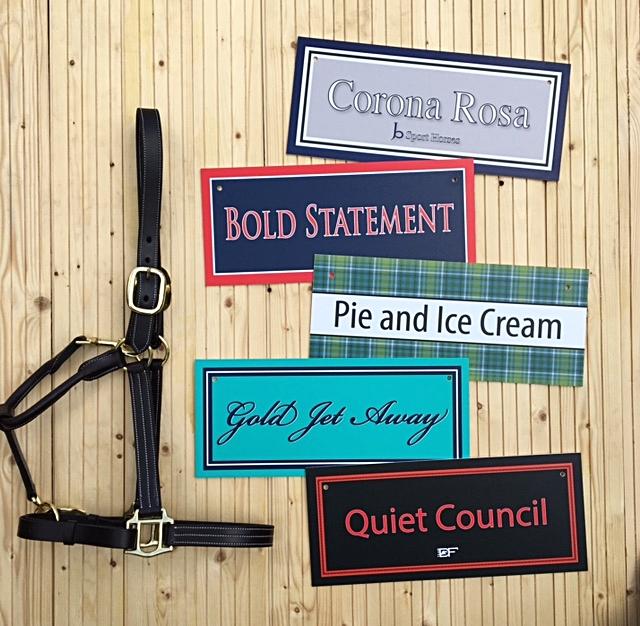 Horse Barn stall names