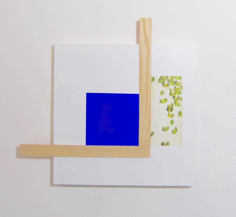 Untitled Blue Square with Veneer