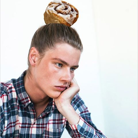#cinnamanbun #manbun #fashion #style #model #style #pensive #plaidbun #deepinthought  #hungry