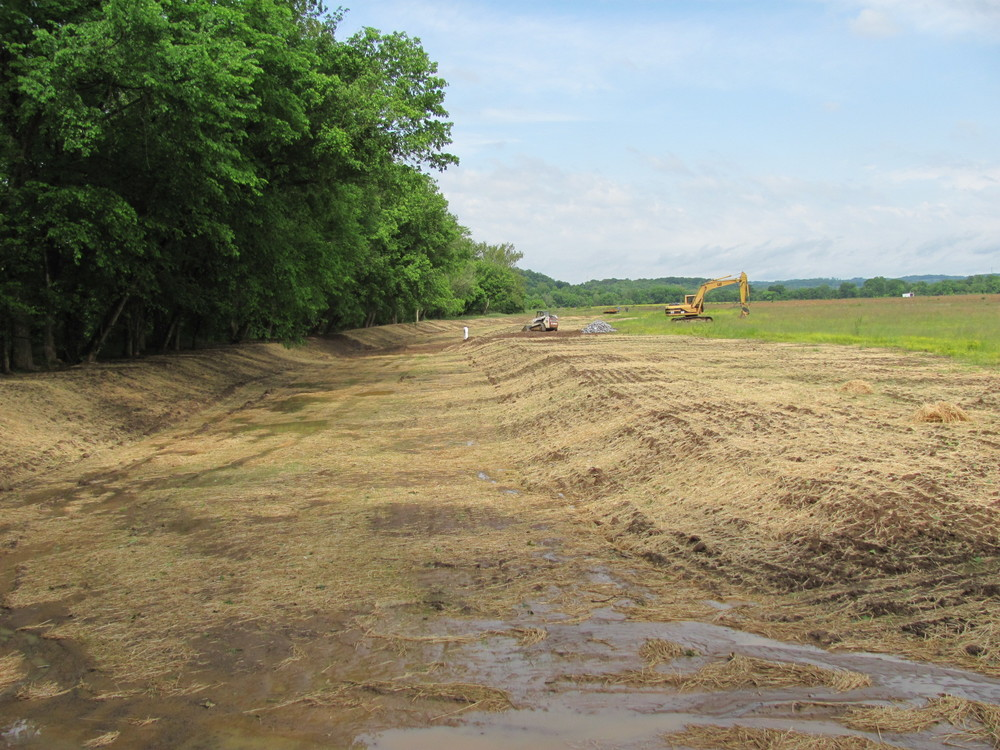 Shelton Tomato Farms Sediment Management Project, Sediment Basin, Hamblen County, TN
