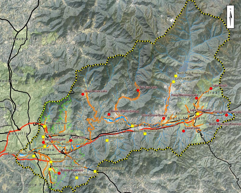 Swannanoa River Watershed, Buncombe County, NC