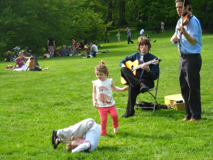 ​Rob plays duo with guitarist Sasha Kern at the Arnold Arboretum's Lilac Sunday 2012