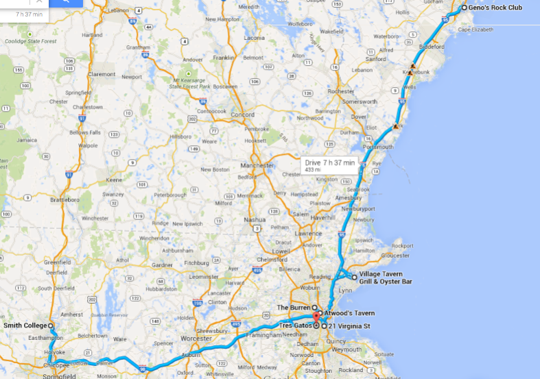 There might be some construction heading up to Maine...