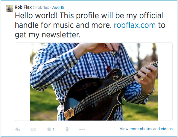 "Twitter ""Hello World"""