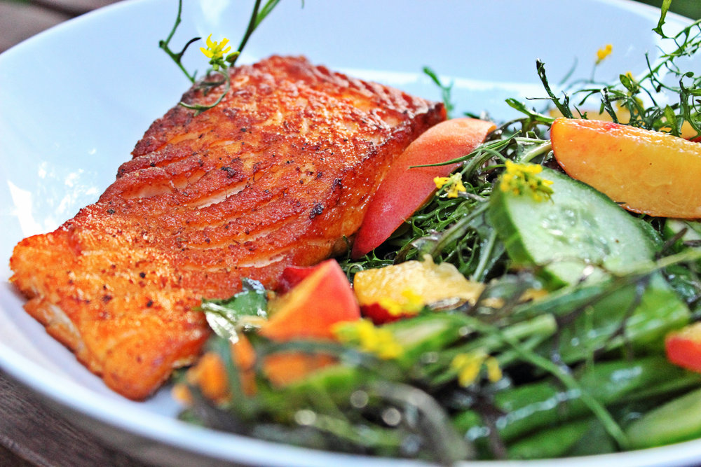 WILD ALASKAN SALMON Pan Seared or Blackened.