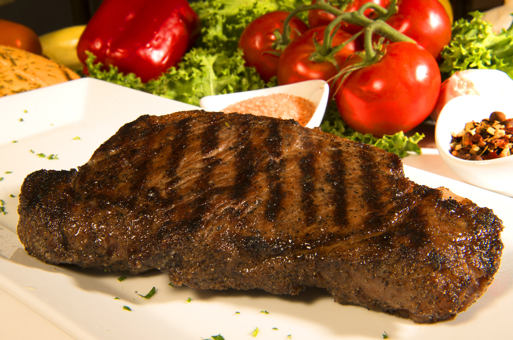 NEW YORK STRIP STEAK 14oz Center-Cut USDA Prime.