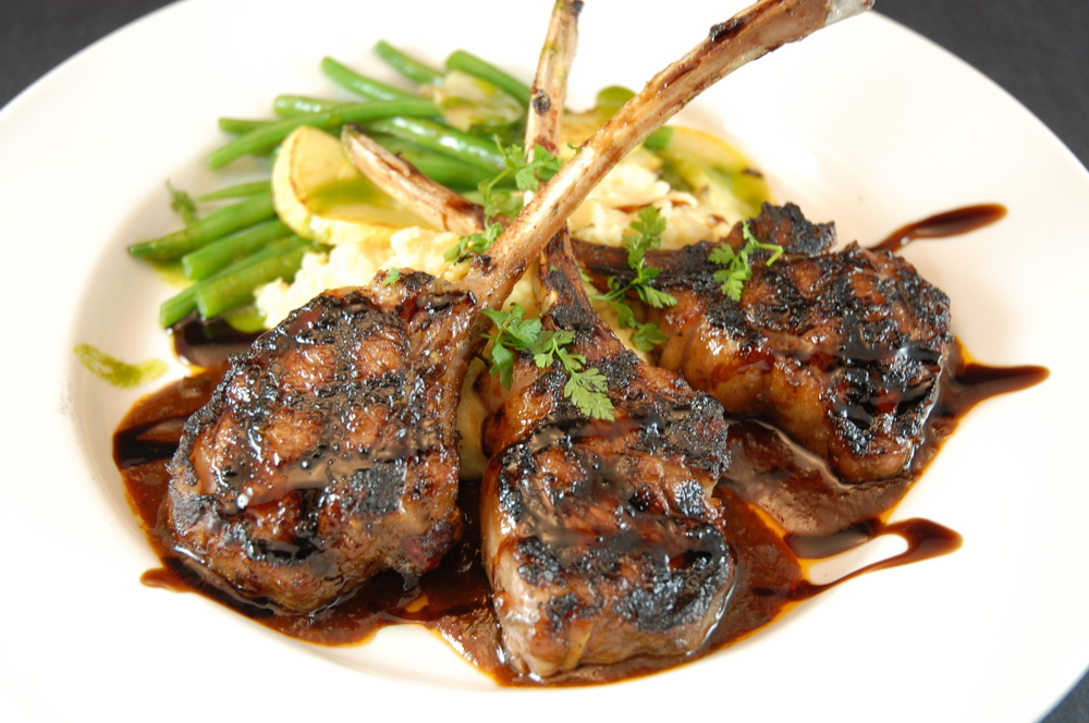 LAMB CHOPS Eight Single-Bone New Zealand Chops.